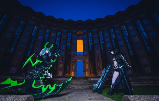 Black Rock Shooter VS Dead Master by Ally-bee