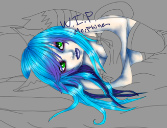 Morphine Laying Down WIP by Taulha