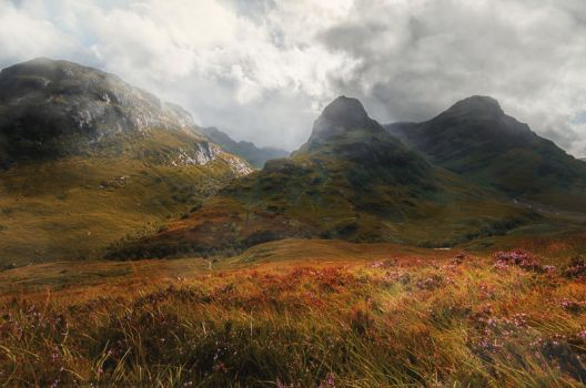 STOCK :  SCOTTISH HIGHLANDS : PREMADE BACKGROUND by thehouseofphotoshop
