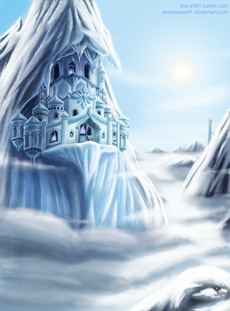 The Hidden ice Temple by Arabesque91