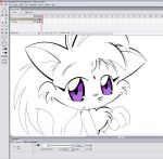 Kitty Sit WIP by RealmOfQuickPaw