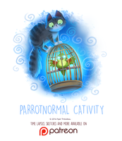 Day 1433. Parrotnormal Cativity by Cryptid-Creations