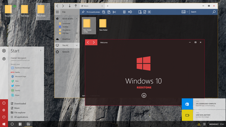 Windows 10 Redstone - Concept (Modern Start-Slim) by danielskrzypon