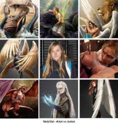 Art vs Artist challenge by Mely-Val