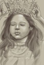 Girl With Crown by tadamson