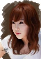 Painting SNSD Taeyeon by aimgallagher