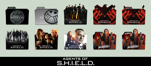 Marvel's Agents of S.H.I.E.L.D. Folder Icon Pack by johnny-stewart