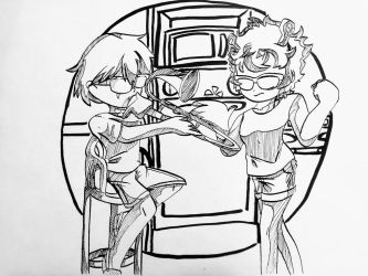 inktober day 6: When the others aren't home by 1corinthians1elehven