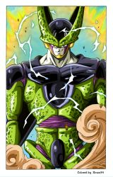 Cell - Toriyama Work - Corected colors and effects by Xman34