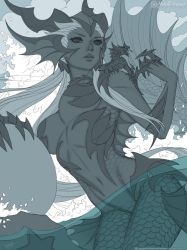 The Sea Dragoness - Line Art by MichelleHoefener