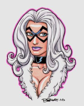 Black Cat Bust Commission by BillMcKay