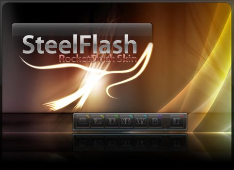 SteelFlash Rocketdock Skin by Steel89