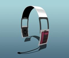 MMD headphones round type by Ina-C