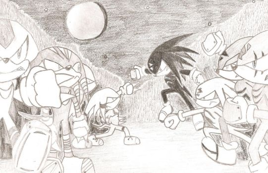 Knuckles Clan vs the Nocturnes by Kiloanna
