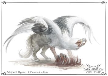 Gryphon Challenge 03: Hyena and Vulture by Pechschwinge