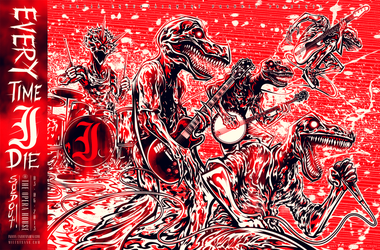 Screenprint: Every Time I Die by milestsang