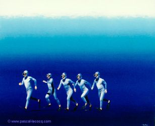 COURANTS MARINS - Running stream - by Pascal by bluepainter357
