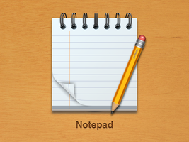 Notepad icon 2 by wakaba556
