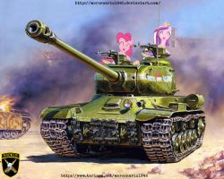 My little pony: Tank IS-2 Bronie by mercenario1945