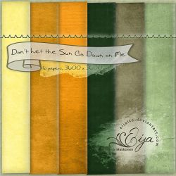Don't Let the Sun Go Down on Me - paper pack 34 by Eijaite