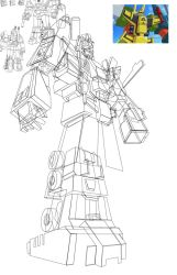 Bruticus WIP for the cover by ragingnin77