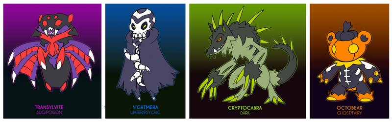 Spooky Adoptables - CLOSED by Darksilvania