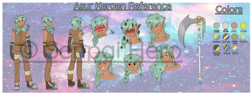 Asur Kergen Reference [OC] by Senpai-Hero