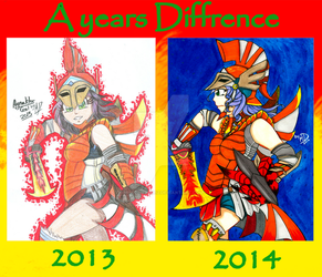 A Years Diffrence :Agnaktor Gal: by mimichi1234312