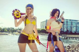 Rikku and Yuna by AllyAuer