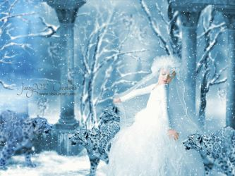 Little Snowqueen loves Snowflakes - updated by JassysART