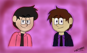 William And Michael (purple guy) Afton by Wyldstyle101