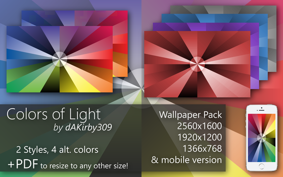 Colors of Light - Wallpaper Pack + Vector by dAKirby309