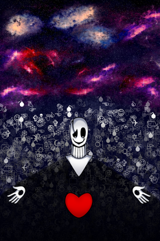 InnerTale/ChalkTale - Gaster and the Red Soul by EmmieAug