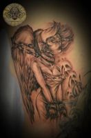 Fallen Angel wings 1 sssion by 2Face-Tattoo