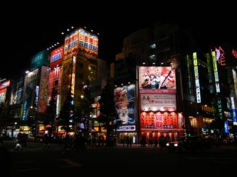 Akihabara By Night by MissFoxlicious