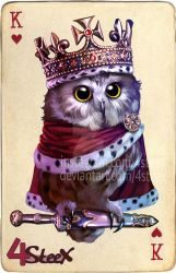 commission: king of hearts owl by 4steex