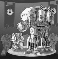 Warhammer 40k Dreadnought A by old-stone-road