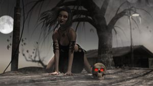 Under the spell of the skull! by Edheldil3D