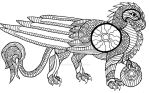 Coloring Page: Gryphon 1 by THExNEKOxCHAN