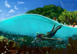 Swimmin' with the Fishies by Enaxn