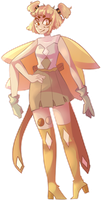 Peach Moonstone (gemsona fusion) by bad-vibes-iva