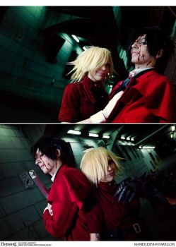 Hellsing Cosplay: Alucard x Seras -Hiding From Day by Maxieyi