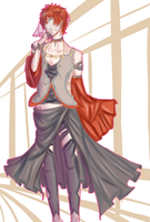 designing clothes and Saeran by Wondering--Artist