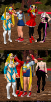 SFV Girls - Swapping Heads (1) by Argeti