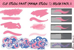 Clip Studio Paint (Manga Studio 5) Brush Pack 8 by Katarina-Kirishiki
