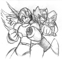 X and Zero sketch by Blayaden