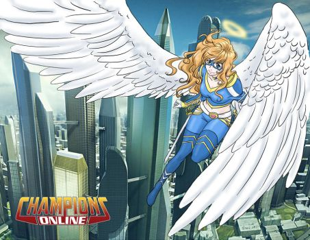 Champions Online Archangel by tehP-WINGavenger