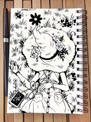 Inktober 2018 Day 7 - Exhausted by celesse