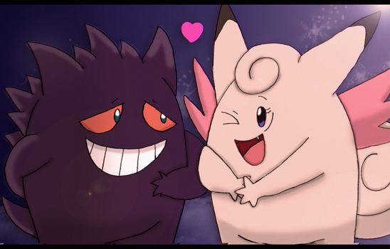 Clefable x Gengar~ by SupremeKhi