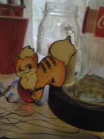 Growlithe Papermon by blackpearl9925